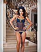 Dreamgirl 'Police' Sheer Halter Camisole, Cap, and Thong Panty Set