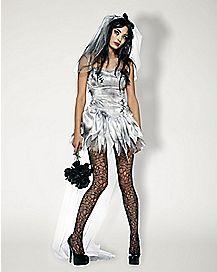 Adult Marry Me Dead Zombie Bride Costume