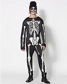 Adult Skeleboner One Piece Costume