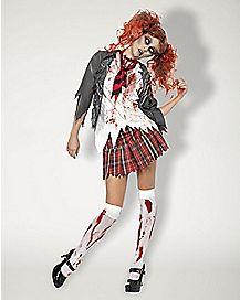Adult High School Zombie Girl Costume