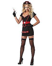 Adult Cardiac Arrest Mini Dress Nurse Costume