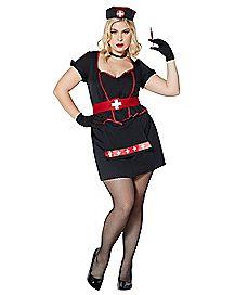 Adult Cardiac Arrest Nurse Plus Size Costume