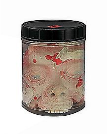 Shrunken Head in Jar - Decorations