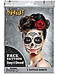 Red Day of the Dead Face Tattoo Decals