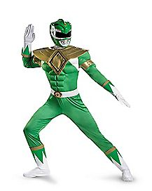 Adult Muscle Green Ranger Costume - Power Rangers