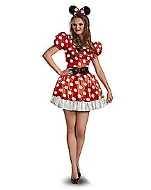 Adult Red Minnie Mouse Plus Size Costume - Disney