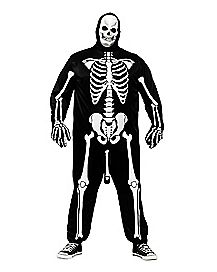 Adult Skeleboner Plus Size One Piece Costume