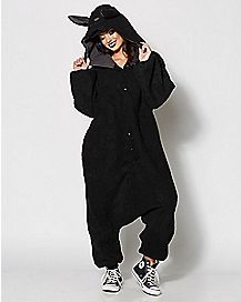 Adult Wooly Black Sheep Costume