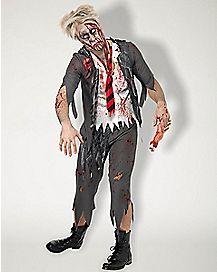 Adult School Boy Zombie Costume