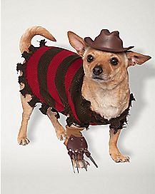 Freddy Krueger Pet Costume - Nightmare on Elm Street