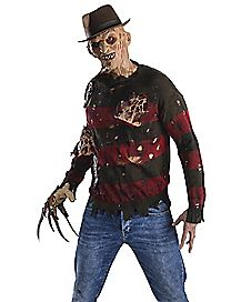 Adult Burned Sweater Freddy Costume - Nightmare on Elm Street