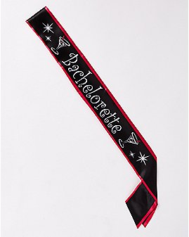 Satin Bachelorette Sash Black