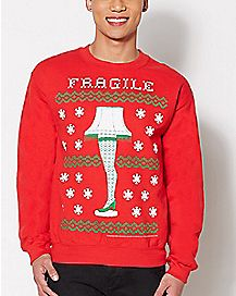 fragile leg lamp a christmas story sweatshirt - Hilarious Ugly Christmas Sweaters