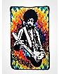 Jimi Hendrix Tie Dye Fleece Blanket