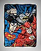 Trio Justice League Fleece Blanket
