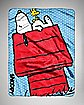 Peanuts Snoopy Dog House Fleece Blanket