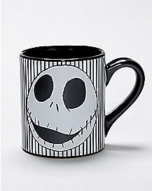 Striped Jack Skellington Coffee Mug - The Nightmare Before Christmas