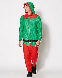 Adult Hooded Elf One Piece Costume