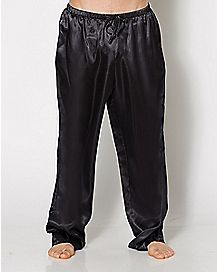 Black Satin Sleep Pants