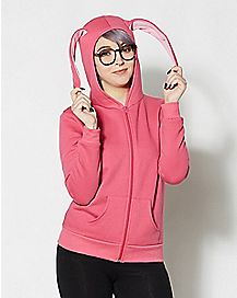 Adult Pink Bunny Hoodie - A Christmas Story