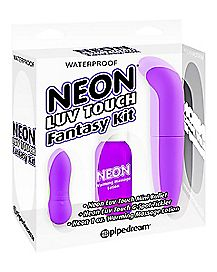 Neon Luv Touch Fantasy G Spot Kit - Purple