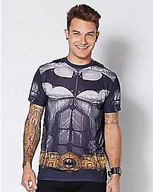 Dark Knight Caped Costume T Shirt - DC Comics