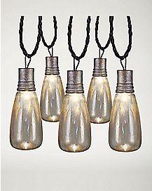 Rusty Attic Flickering String Lights