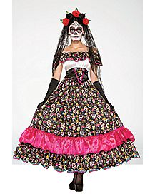 Adult Day of the Dead Spanish Lady Costume