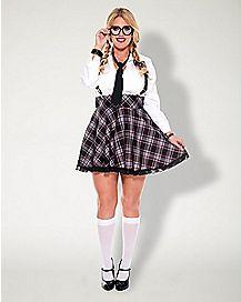 Adult High Class Nerd Plus Size Costume