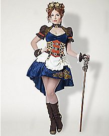 Plus Size Steampunk Fantasy Adult Womens Costume