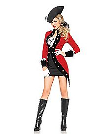 Adult Racy Red Coat Pirate Costume