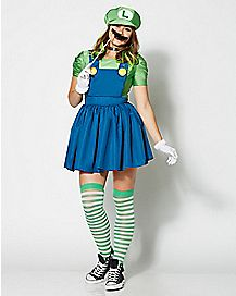 Adult Luigi Dress Costume - Mario Bros