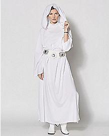Adult Hooded Princess Leia Costume - Star Wars