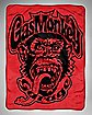 Red Monkey Logo Gas Monkey Garage Throw Blanket