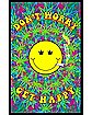 Dont Worry Get Happy Blacklight Poster