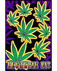 Legalize It Black Light Poster