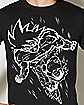 White Line Goku Dragon Ball Z  T Shirt