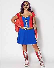 Comic Book Hero Plus Size Costume