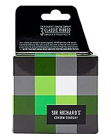 Sir Richard's Classic Ribbed Condoms 3 Pack