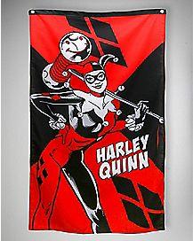 Batman Harley Quinn with Mallet Wall Banner