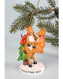 Christmas Buck Humping Reindeer Christmas Ornament
