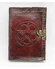 Pentagram Locking Leather Journal