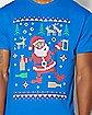 Adult Partying Santa Ugly Christmas T Shirt
