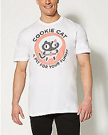 Pet For Your Tummy Cookie Cat Steven Universe T shirt