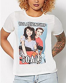 Relationship Goals Saved By The Bell T shirt