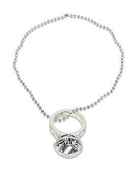 Jumbo Diamond Ring Bachelorette Necklace