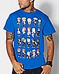 Chibi Character Naruto T Shirt