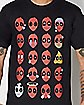 Emoji Deadpool T Shirt - Marvel Comics
