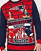 3D Stocking NFL New England Patriots Ugly Sweater