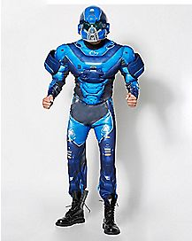 Adult Blue Spartan One Piece Costume - Halo